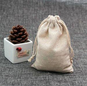 100pcs lot Natural Color Cotton Bags Small Party Favors Linen Drawstring Gift Bag Muslin Pouch Bracelet Jewe jllqBj warmslove 1358 V2