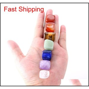 Arts And Arts, Crafts Gifts Home & Garden Drop Delivery 2021 Crystal Chakra Stone 7Pcs Set Natural Stones Palm Reiki Healing Crystals Gemston