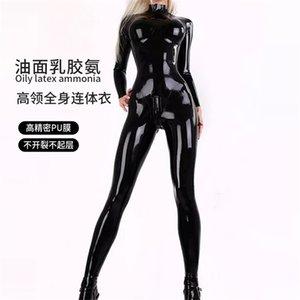 Fun high elastic Pu latex ammonia women's body shaping clothes gq26 stage show CD cross dressing BODYSUIT1VMO