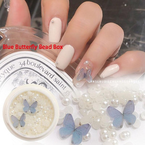 Nail Art Butterfly Jewelry Resin Shell Sticker White Polish Glue Accessories Decoration Design Kits