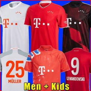 Bayern Munich 20 21 LEWANDOWSKI SANE maillot de foot COMAN MULLER GNABRY DAVIES maillots de football hommes + enfants enfant kit MUNCHEN de la soccer jersey humanrace quatrième