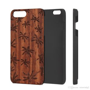 Dirt-resistant Phone Cases For iPhone 6s 7 8 plus 11 12 Pro X Xr Xs Max Shockproof Retro Custom Carving Pattern Wood PC Fashion Luxury 2021 Back Cover Wholesale