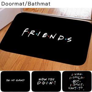 Carpets Classic Friends TV Show Funny Quotes Printed Doormat Baby Bedroom Carpet For Kitchen Door Decorative None-slip