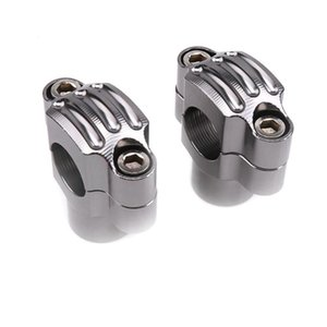 Handlebars Universal Motorcycle Aluminum Screw Hole 22mm 0.866 Inch HandleBar Risers Fat Handle Bar Mount Clamp For Racing And Scooter