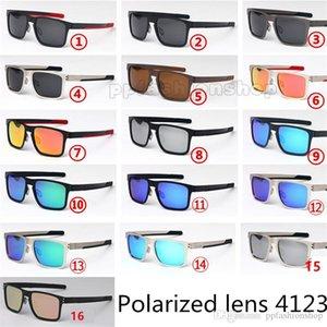 Gafas polarizadas de marca Casual Retro Gafas de sol Holbrok Metal Prizm Driver Conducir Gafas de conducción Outdoor Casual Sunglasses 4123 Hombres