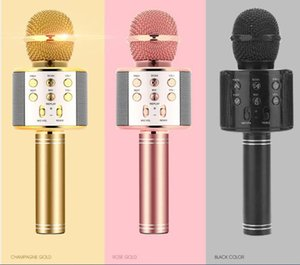 WS858 Handheld Microphone Bluetooth Wireless KTV 858 With Speaker Mic Microfono Loudspeaker Portable Karaoke Player