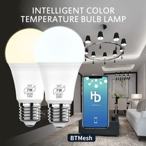 Bulbs 7W WiFi Smart Light Bulb BT Mesh Net LED RGB Lamp Work With IOS   Android APP Home 120V Dimmable Timer Function Magic