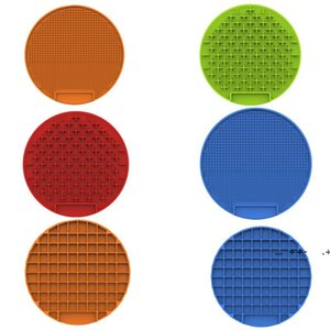 Pet Supplies Feeders Bowls Dog sucker Food mat silica gel Placemat Dogs lick Disc pad slow foods bowl Pets Treat Supplie FWA8575