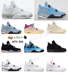 Air jordan 4 Retro aj4 jordans Arrivals OG Mens Womens 2021 4s Basketball University Blue Shoes Rookie of aj4 union the Year Shattered Crimson Jumpman Tint Sneakers Trainers