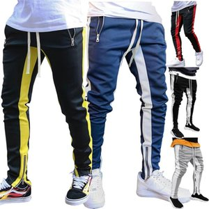 Running Pants Striped Gym Sport Jogging Men Joggers Sports Tights Trousers Outdoor Bodybuilding Sweatpants Gyms Wear