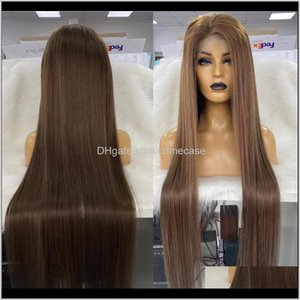 "Pelucas Color Custom 40 ""y 45"" Peluca de encaje completa Long Virgin Hair JK8DJ XXEVO"