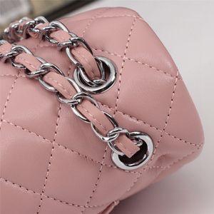 2021 최고 디자이너 캐비어 소재 가방 핸드백 레이디 가죽 핸드백 및 지갑 여성 크로스 바디 플랩 크기 사각형 지갑 Puress