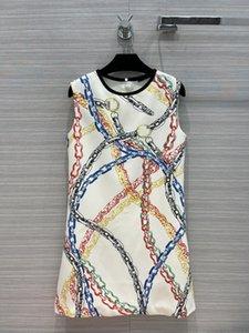 Milan Runway dresses 2021 Spring Summer O Neck Women's Designer Dress Brand Same Style Colthing 0618-6