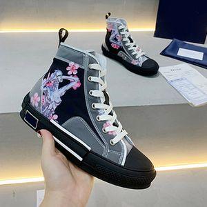 Классические полотно Пары Пары повседневные Мужские Обувь Настоящие Кожаные Кроссовки Мужчины Мокасины Кружева Высокие Женщины Люквины Дизайнеры Обувь с коробкой размером 35-45