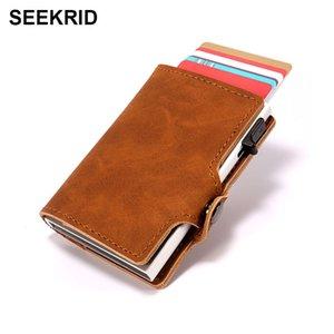 RFID Блокировка моды мужская тонкий умный кошелек алюминиевый металл бизнес идентификатор кредитной карты держатель карты чехол мини-карт, тонкий кошелек для мужчин