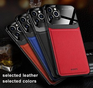 Cell Cases Business Style Case 12 11 Pro Xs Pu Leather Tempered Glass Back Cover For Phone 7 8 6 6S Plus Xr Max Coque Zkhb7 H1V6Z