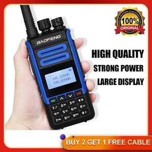 Walkie Talkie 2021 High Quality Baofeng Walki Talki Large LCD Display UHF VHF 10km Long Range Transmitter Transreceiver 2 Way Ham Radio BF-H