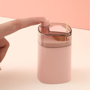 Automatic Toothpick Holder Container Creative Plastic Household Table Toothpick Storage Box Portable Toothpick Bucket Dispenser DWA8733