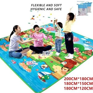 Baby Play Mat Double Surface Carpet Rug Kids Developing 0.5cm Thick Soft Crawling Toys for Children's Floor 210915