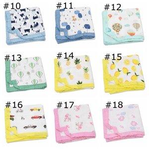 مناشف حمام الرضع المطبوعة موسلين أربعة طبقة الخيزران الشاش منشفة شفافة بواسطة ins baby blanket 27 تصاميم البحر HHC7049