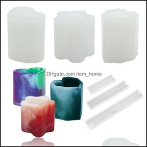 Craft Arts, Crafts Gifts & Gardencraft Tools 9Pcs Epoxy Crystal Resin Sile Mold Vase Pen Holder Bookmark For Diy Jewelry Making Home Desk Or