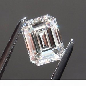 Emerald cut free ship 0.2CT to 12CT lab diamond real moissanite stone color D clarity FL with a certificate for ring, necklace, watch, etc. L0402
