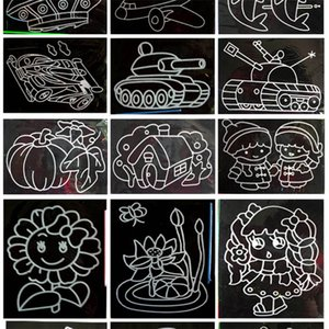 Magic Color Scratch Art Paper Coloring Cards Available On Both Sides Scraping Drawing Toys For more than 3 years Kids