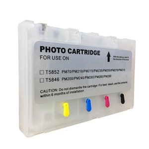 Ink Cartridges 20ml Compatible For T5852 PM210 250 270 T5846 PM200 240 260 280 Refillable Cartridge With Permanent Chip Empty Repalce