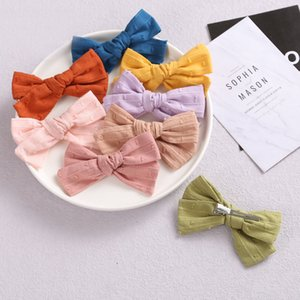 15767 Baby Girl Bowknot Barrettes Hair Clips Princess Girls hairpin Barrette Children Kid Accessories 17 Colors