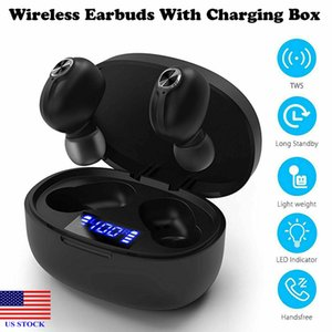 Bluetooth Kulaklık TWS Kablosuz Cep Telefonu Kulaklık Kulakiçi Kulaklıklar C0065 ABD Stok Hızlı Teslimat