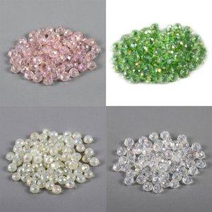 70-300 pièces de 3/4 / 6 / 8mm Tchèque en cristal en cristal en verre de verre incrusté de perles d'espacement couleur pour bricolage bracelet bijoux Production 806 T2