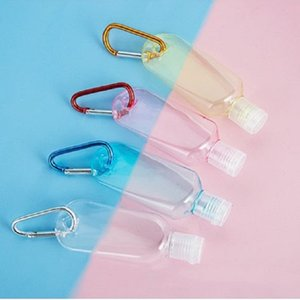 30ml 60ml Colorful refillable Flip Cap Bottle with Key Ring Hook Empty mini Hand Sanitizer Bottles for Travel