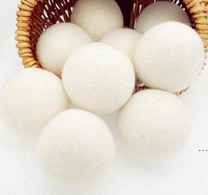 منتجات الغسيل كرات الصوف بريميوم قابلة لإعادة الاستخدام النسيج الطبيعي المنقي 2.76 بوصة ثابت يساعد على الجفاف الملابس في غسيل الملابس أسرع HWF6237