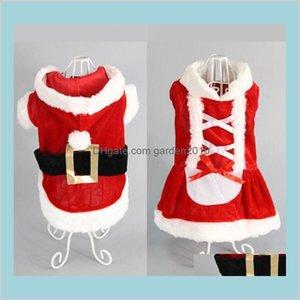 Dog Apparel Supplies Pet Home & Garden 5 Size Christmas Costume Transformed Dress Santa Suit Classic Euramerican Clothes Nice Drop Del