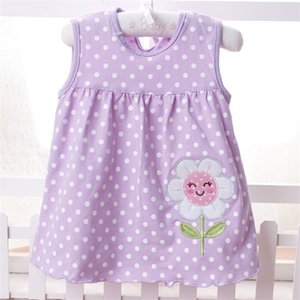 2018 New Infant Kids Girls Child A-line Dress Sleeveless Floral Printed A variety of styles random delivery 150 Z2