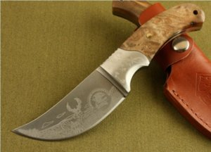 Bron African Rhino Hunter Straight Fixed blade Knife Outdoor Camping Hunting Pocket Gift Knife Xmas gift knives for man 0652