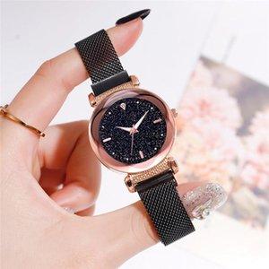 Saatı Moda Bayan Yıldızlı Gökyüzü Noctilucent Saatler Güzel Bayanlar Saat İzle Mozaik Elmas Örgü Kemer Elbise Lady Saatler A4
