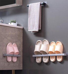 Towel Racks Slippers Rack Holder Toilet Wall Mounted Hanging Shoes Shelf Storage Organizer For Bathroom Kitchen