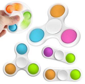 DHL DERNIES Styles Baby Sensory Simple Dimples Jouets Cadeaux Adulte Enfant Funny Spess Finger Spinner Stress Reliver Reliver Push Bubble Fidget jouet