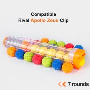 7 Gunshot Cartridge Bullet Clip For Nerf Rival Apollo XV-700 Ball Bullets for Rival Zeus Apollo Toy Gun Dart Series