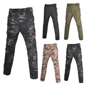 Тактические брюки Грузовые брюки Мужчины Охотничьи Армия Swat Camping Сплошные поля Боевые Ветрозащитные Брюки Woodland