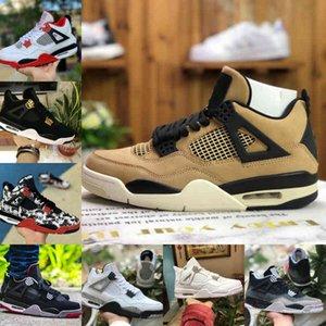 Air Jordan 4 retro jordans  Nike Venta 2021 BRED CAT BLACK CAT 4 4S Zapatos de baloncesto Hombres Hombres Cemento blanco Encore Pine Green Wings Fire Red