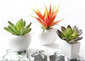 Оптом наклейка холодильника, смоделированный букет цветок суккулентных растительных магнитных магнитных горшечных для дома стены украшения гостиной