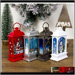 Decorations Lantern Portable Mini Led Decoration Painted Lamp Halloween Christmas Outdoor Tree Hanging Light 4 Patterns Owd2879 V3Oxk Xobhs