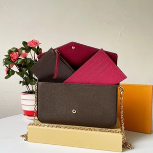 """LV""""2021 European And American wallet Luxury Three in One Envelope Bag Three Piece Set of One Chain Shoulder Messenger Bag New Women Bag"""
