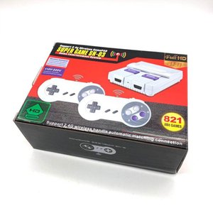 Newest 1080P HD 821 Portable Game Players super mini snes series Game SN-03 with 2.4G Wireless Handle