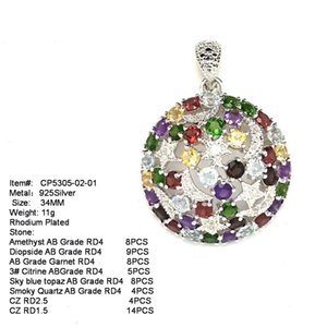 Charm Micro-inlaid Colorful Rhodium-plated Spherical 925 Silver Earrings Jewelry Gift