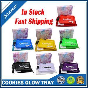 Vassoio Glow Cookies con Bilancia digitale Piastra di rotolamento ricaricabile VAPE Dispositivo a LED modificabile Castelli a rulli per tabacco a secco Herb