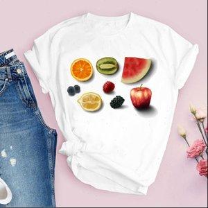 Women Graphic Womens T Shirt Cartoon Fruit Sweet Lemon Fashion Short Sleeve Printed Tops Lady Tees Clothing Female