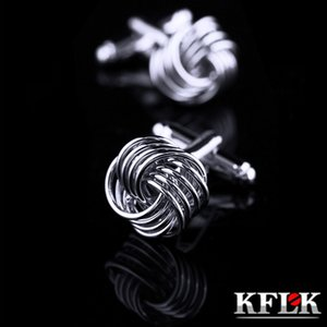 KFLK Jewelry shirt cufflinks for mens Brand cuff button cuff link male High Quality Twist gemelos abotoadura guests